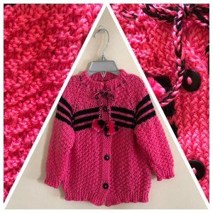 Hand knitted toddlers jacket